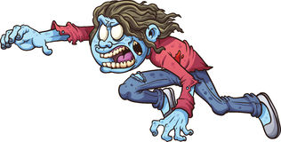 Ragazza dello zombie Immagine Stock