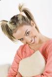 Ragazza dentellare Fotografia Stock