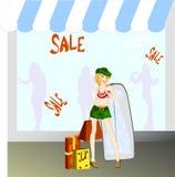 Ragazza di acquisto Illustrazione Vettoriale