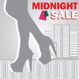 Ragazza di acquisto di mezzanotte di vendita Fotografie Stock