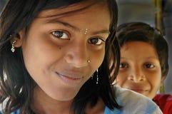 Ragazza di adolescenza nella ragazza di Indince in India Fotografie Stock Libere da Diritti