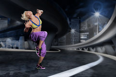 Ragazza di aerobica Fotografie Stock