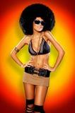 Ragazza di Afro Immagini Stock Libere da Diritti