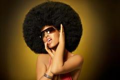 Ragazza di Afro Fotografie Stock Libere da Diritti