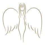 Ragazza di angelo Fotografie Stock Libere da Diritti