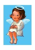 Ragazza di angelo illustrazione di stock
