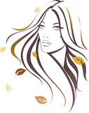 Ragazza di autunno illustrazione vettoriale