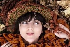 Ragazza di autunno Immagini Stock