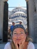 Ragazza di Beautifull a Costantinopoli Immagine Stock