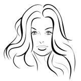 Ragazza di bellezza Bello fronte della donna di modo inchiostro Fotografie Stock
