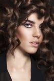 Ragazza di bellezza di modo. Ritratto splendido della donna. Fotografia Stock