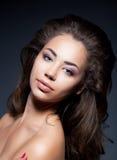 Ragazza di bellezza - pelle pulita sana fotografia stock libera da diritti