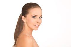 Ragazza di bellezza Ritratto di bella giovane donna fotografia stock