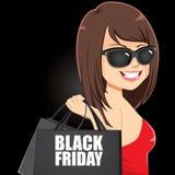 Ragazza di Black Friday Immagini Stock Libere da Diritti