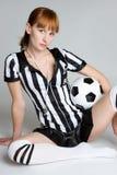 Ragazza di calcio immagini stock libere da diritti