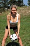 Ragazza di calcio immagine stock