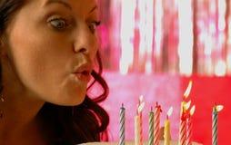 Ragazza di compleanno Fotografie Stock