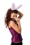 Ragazza di coniglietto sexy Fotografia Stock Libera da Diritti