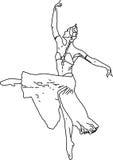 Ragazza di Dancing Fotografie Stock