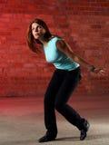 Ragazza di Dancing ad una perdita Fotografia Stock Libera da Diritti