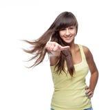 Ragazza di dancing caucasica attraente Immagine Stock
