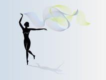 Ragazza di dancing con il mantello Immagine Stock