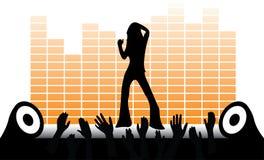 Ragazza di dancing di vettore Fotografia Stock
