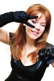 Ragazza di dancing divertente Fotografia Stock Libera da Diritti