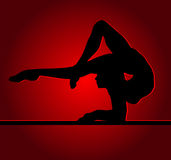 Ragazza flessibile Fotografia Stock