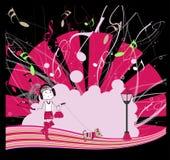 Ragazza di dancing, illustrazione di vettore, eps10 Immagine Stock Libera da Diritti