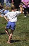 Ragazza di dancing scozzese Fotografie Stock