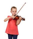 Ragazza di dolore con un violino Fotografia Stock
