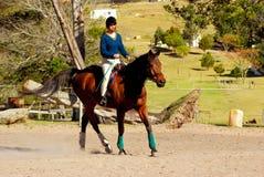Ragazza di equitazione Fotografie Stock