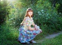 Ragazza di fiore Fotografie Stock