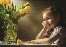 Ragazza di fiore fotografia stock