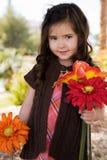 ragazza di fiori piccolo Fotografia Stock