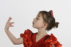 Ragazza di flamenco Fotografia Stock Libera da Diritti