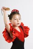 Ragazza di flamenco Fotografie Stock Libere da Diritti