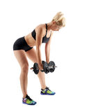 Ragazza di forma fisica che fa allenamento della spalla Immagine Stock