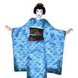 Ragazza di geisha royalty illustrazione gratis