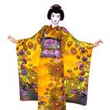 Ragazza di geisha illustrazione vettoriale