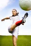 Ragazza di gioco del calcio Immagine Stock Libera da Diritti