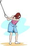 Ragazza di golf Fotografia Stock Libera da Diritti