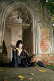 Ragazza di Goth Fotografia Stock