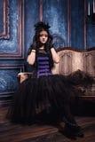 Ragazza di Goth Fotografie Stock