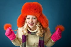 Ragazza di inverno Fotografia Stock