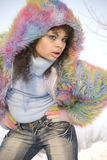 Ragazza di inverno Fotografie Stock