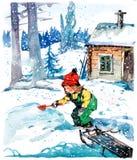 Ragazza di inverno illustrazione vettoriale