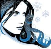 Ragazza di inverno illustrazione di stock