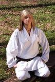 Ragazza di karatè - meditazione Fotografie Stock